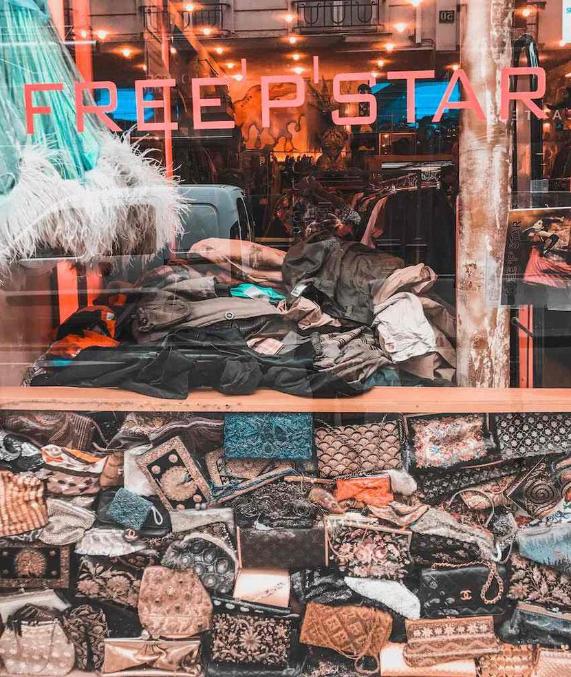 Paris vintage store Freepstar