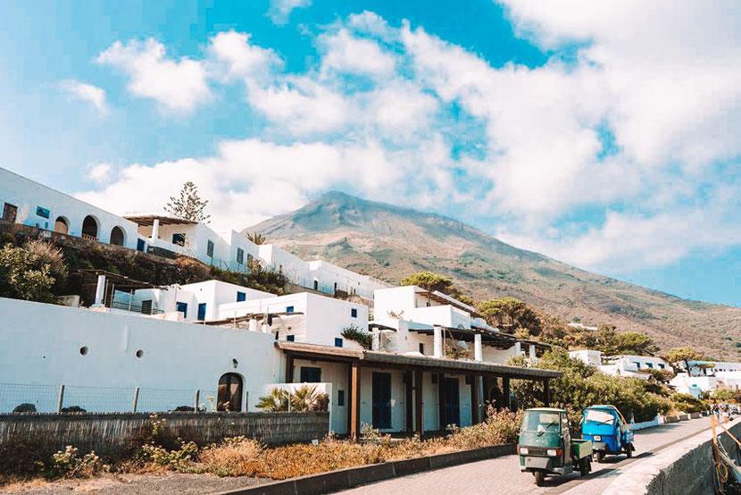 Stromboli Volcano in Sicily