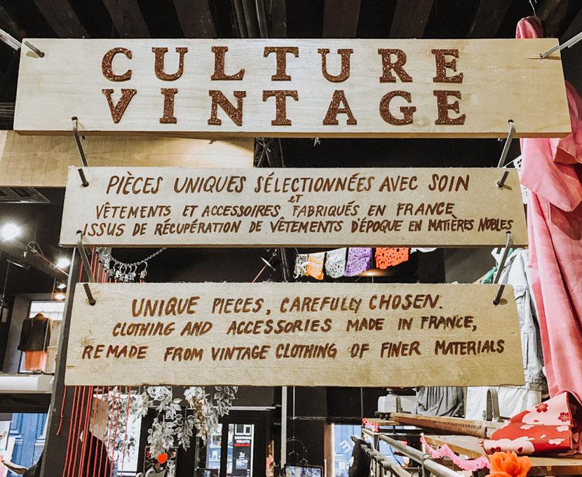 культура винтаж - уникальные вещи в магазине сэконд-хэнд в Париже