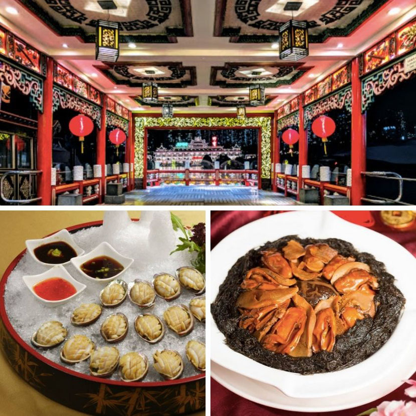 unusual Chinese food at the floating restaurant in Hong Kong