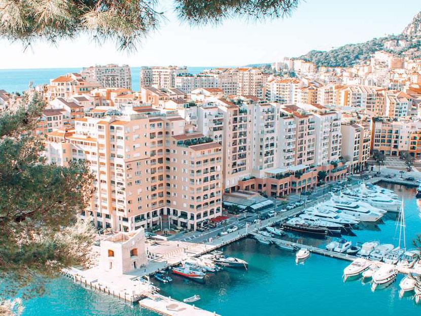 Beautiful weather in Monaco in March