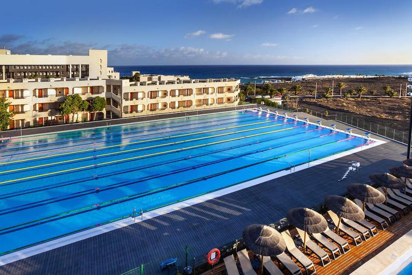 a huge swimming pool of sport standard in Lanzarote