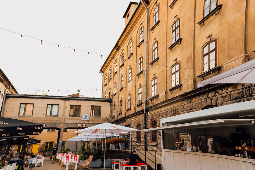 Tytano - a hipster area in Krakow
