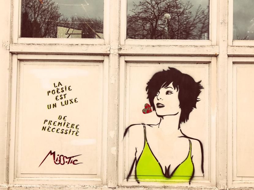 стрит-арт в Париже в районе Бют-о-кай