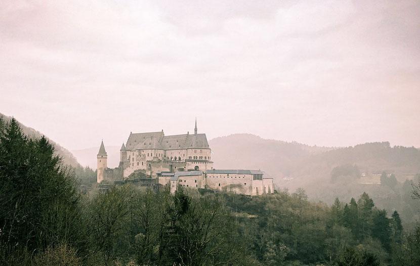 Vianden Castle in the mist, Luxembourg