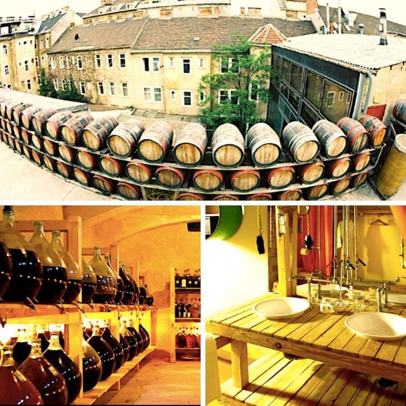 unusual hotel in a real vinegar factory in Vienna.