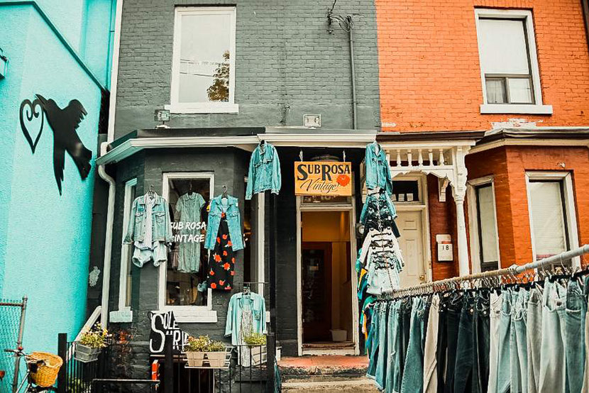 a vintage shop in Kensington market in Toronto