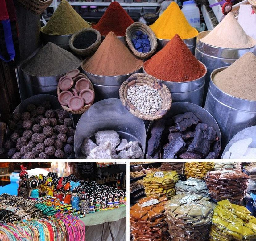 нетуристическое место в Париже - африканский рынок в районе Шато Руж