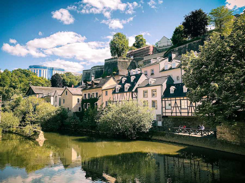 View from Scott's pub in the Grund, Luxembourg