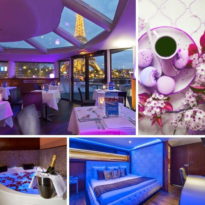 романтический и необычный ресторан на яхте в Париже