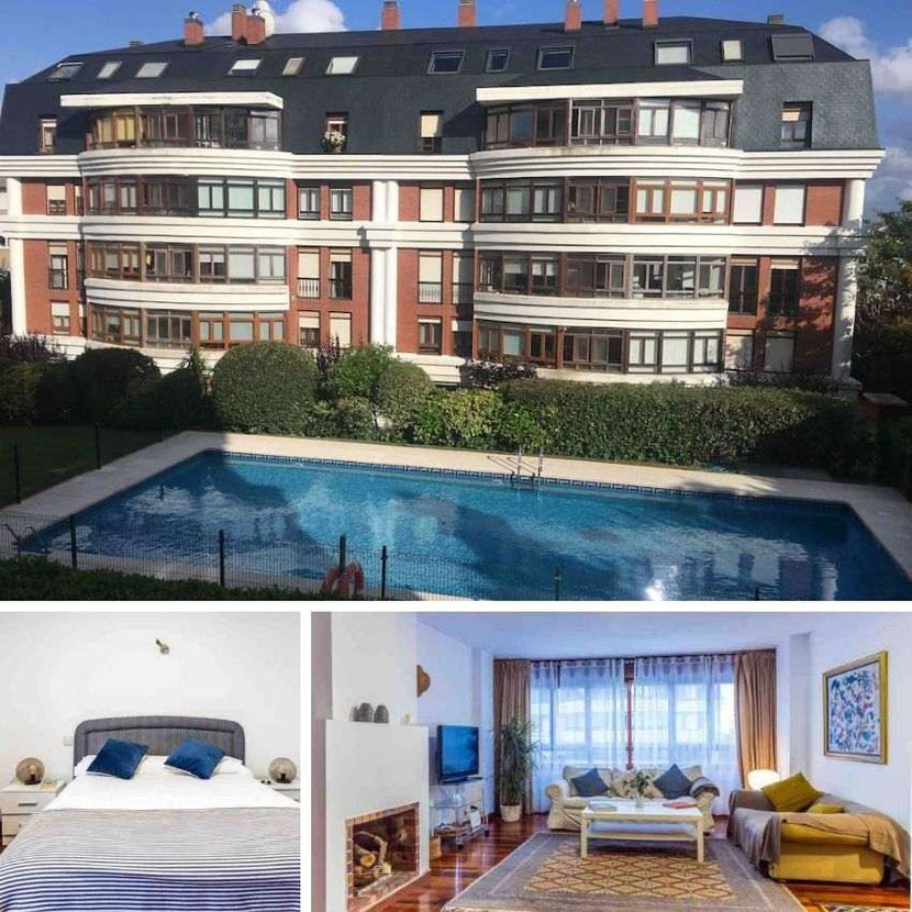 Airbnb apartment with a swimming pool in Santander, Spain