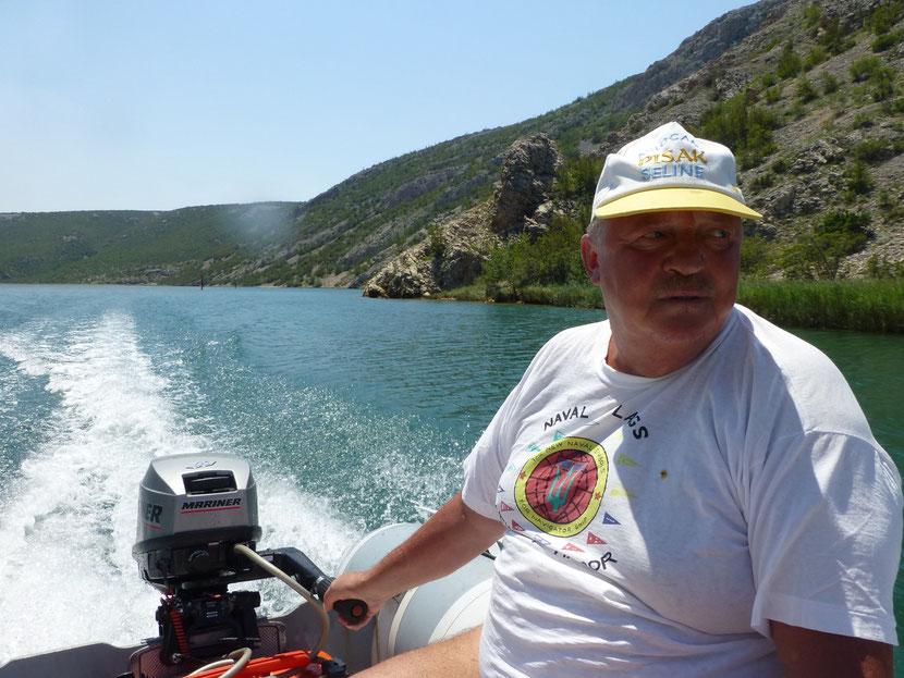 "Mein Kapitän ""Hermann"" Fahrt in den Zrmanja Canyon bis zum Wasserfall ""Jankovica Buk"""
