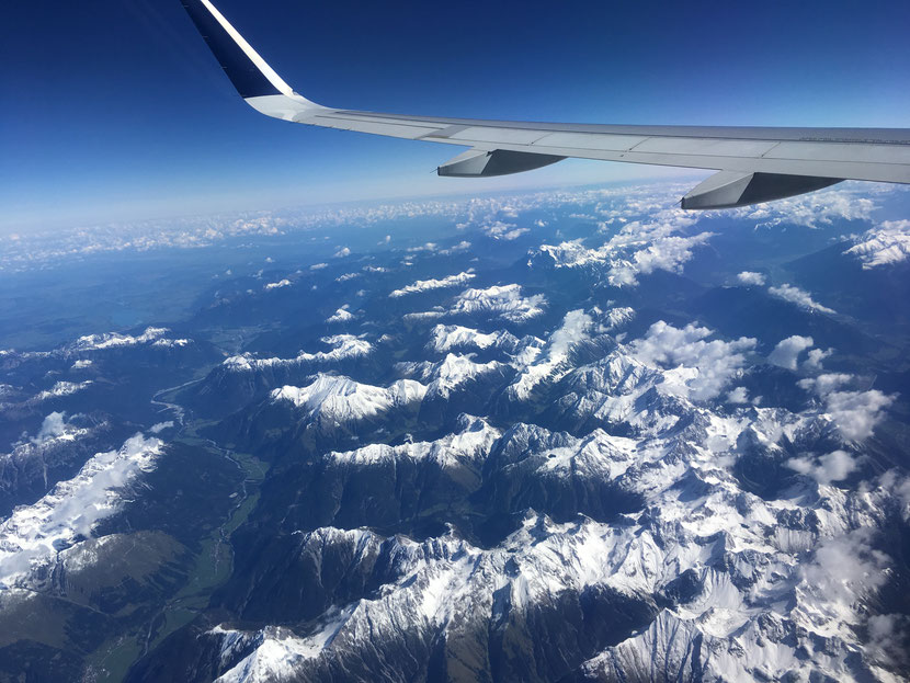 Flight over the Alps (Tirol, Austria)