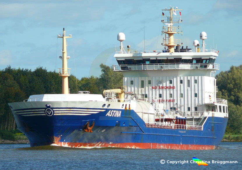 Chemie-/ Öltanker ASTINA, Nord-Ostsee-Kanal, 25.09.2018