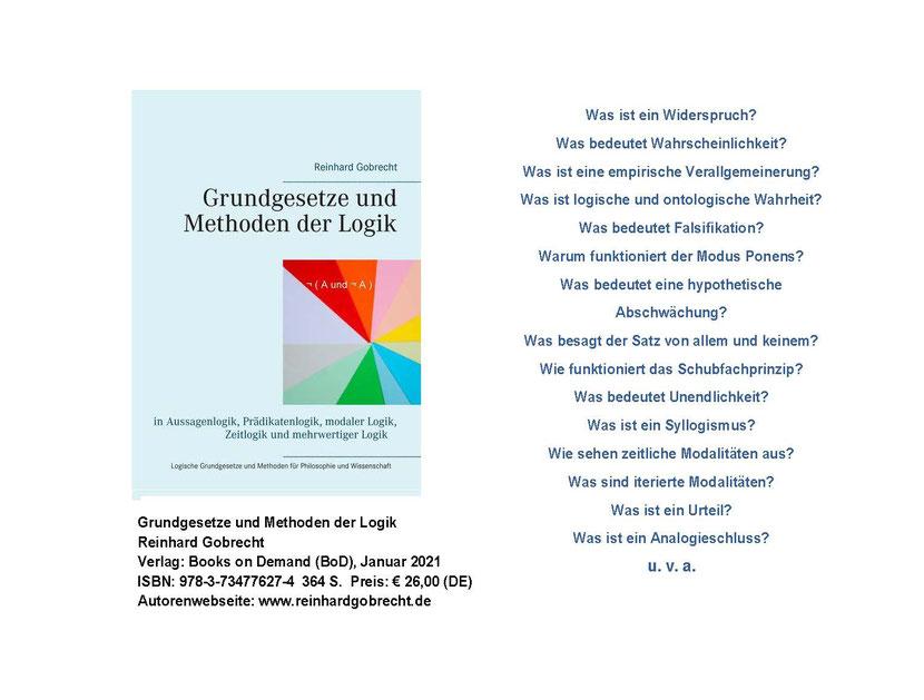 Philosophische Logik | Flyer Grundgesetze und Methoden der Logik