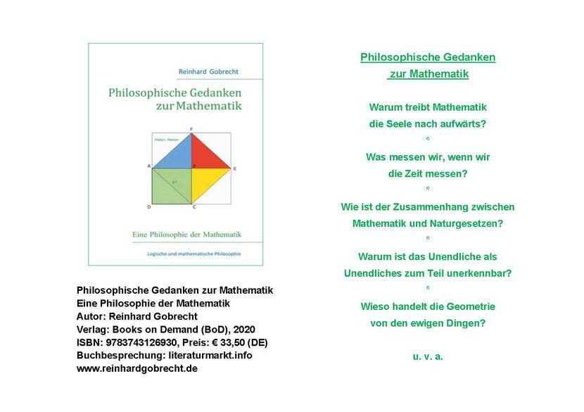 Philosophie der Mathematik | Flyer Philosophische Gedanken zur Mathematik