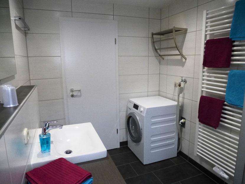 mit Waschmaschine