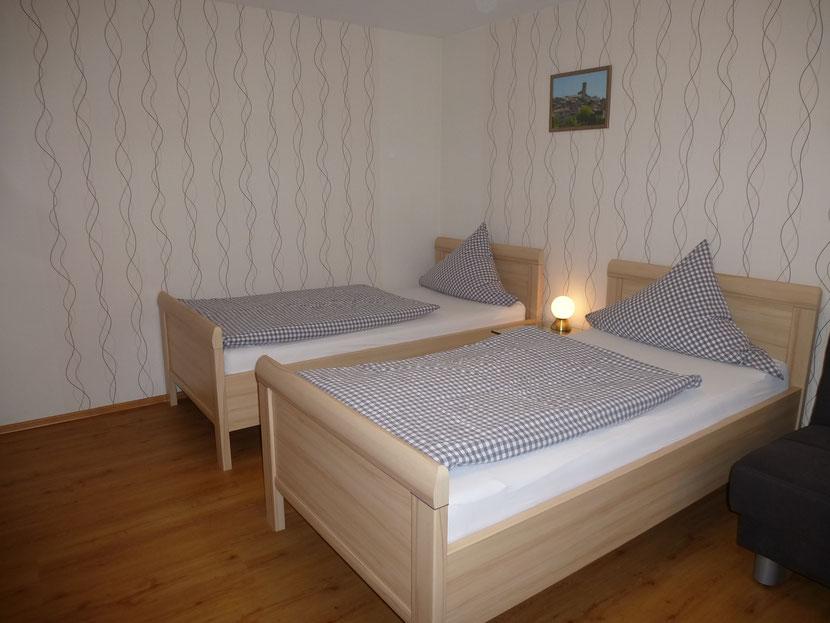 Schlafzimmer II mit 2 Einzelbetten