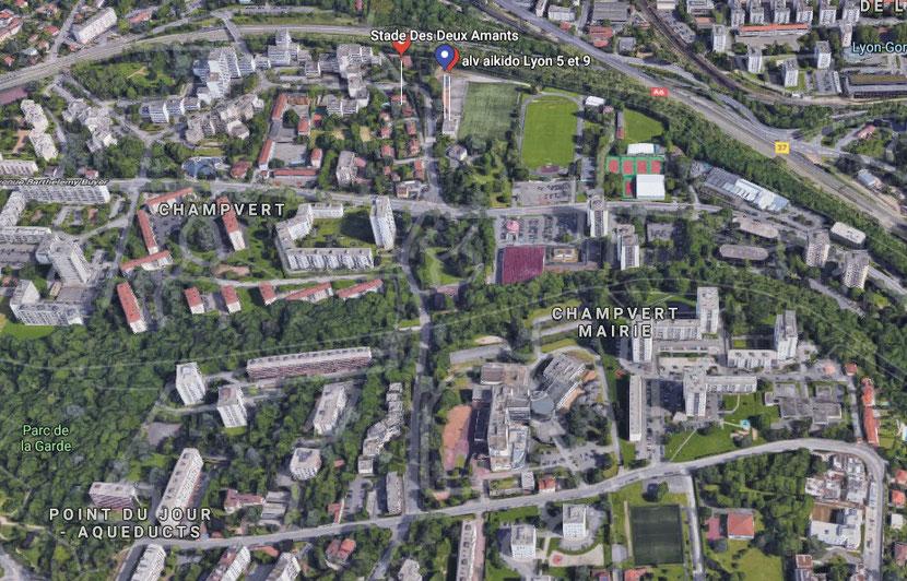 Plan Dojo Salle Omnisports 4 Rue Frère Benoît, 69009 Lyon
