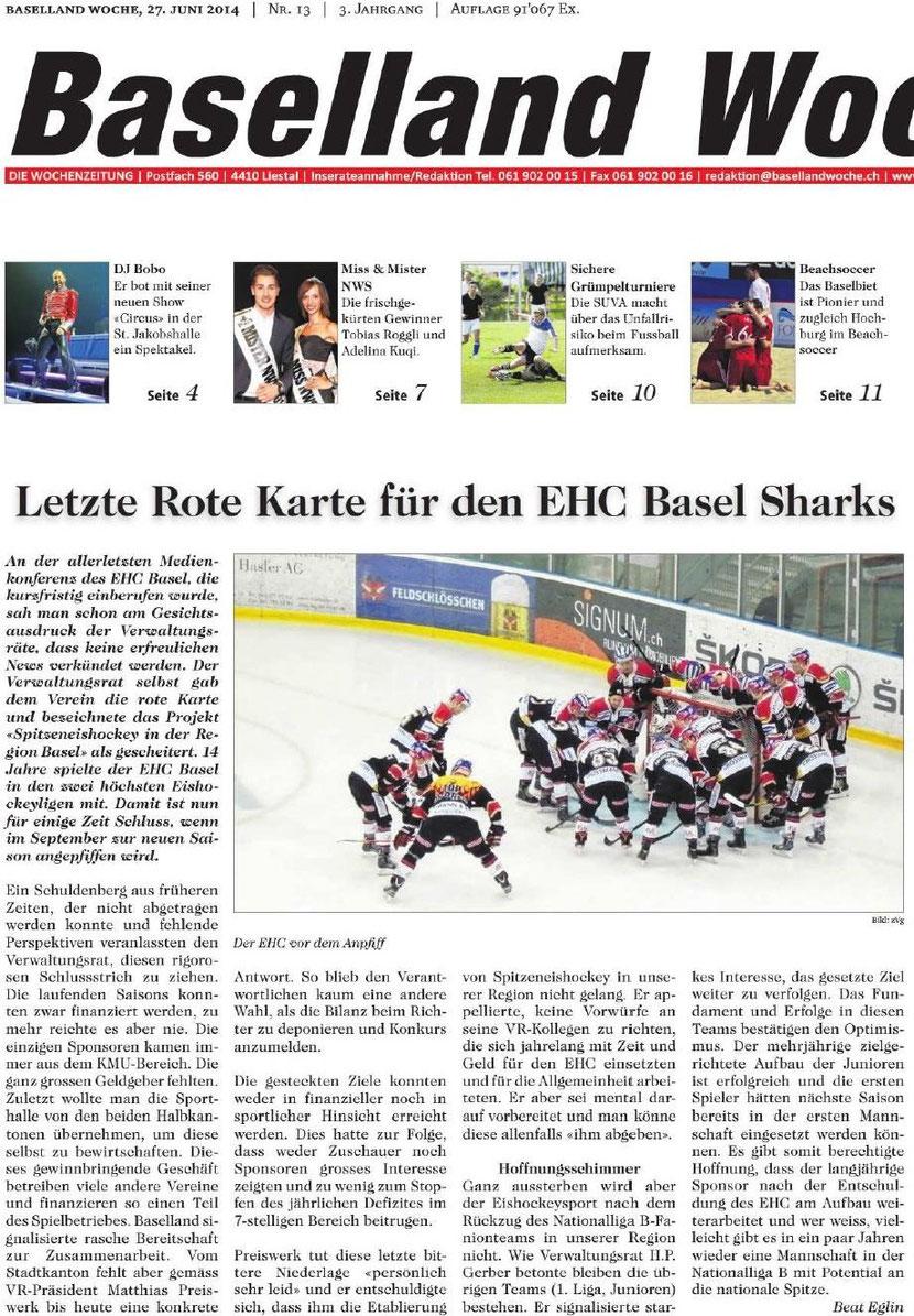 EHC Basel - Konkurs