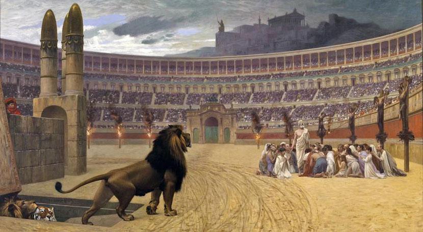 La cruauté des romains n'a pas de limites et les souffrances qu'ont eu à subir les chrétiens sont indescriptibles. Au nombre des instigateurs de ces persécutions, figurent les empereurs Néron, Domitien, Trajan, Marc Aurèle, Dèce, Valérien et Dioclétien.