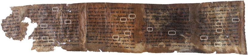 4Q41 ou 4QDeuteronomy, découvert en 1952 dans la grotte 4, est un manuscrit datant du premier siècle avant J-C. La partie la plus grande contient 16 fois le Tétragramme du Nom de Dieu.
