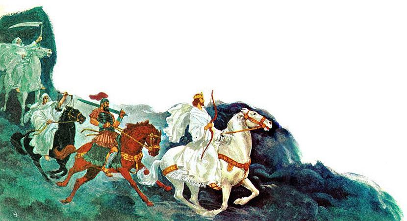Le premier cavalier de l'Apocalypse est-il Jésus-Christ ou l'antichrist ? Il est intéressant de mettre en parallèle les prophéties de Jésus-Christ rapportées dans les Evangiles et celles qu'il a révélées dans le livre de l'Apocalypse.