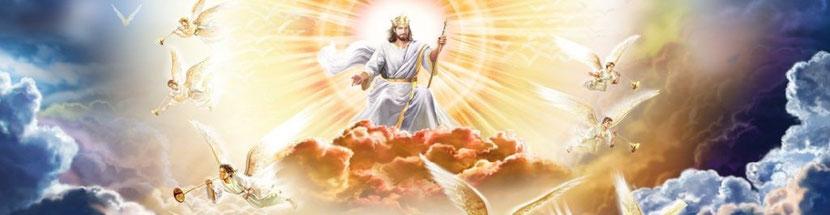 Quand viendra la colère divine, cela signifiera que « l'heure est venue où tous les morts seront jugés ». Je vis alors un grand trône blanc et celui qui y était assis. La terre et le ciel s'enfuirent loin de lui et l'on ne trouva plus de place pour eux.