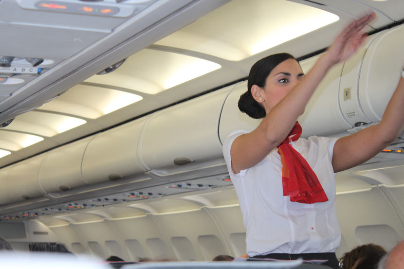 Stewardessengymnastik ha,ha.
