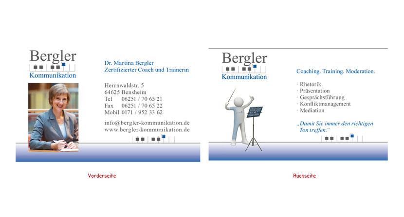 Visitenkarten-Gestaltung und Visitenkarten-Druck für Coacher in Erding