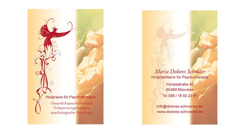 Visitenkarten-Gestaltung und Visitenkarten-Druck für Heilpraktiker in Ebersberg