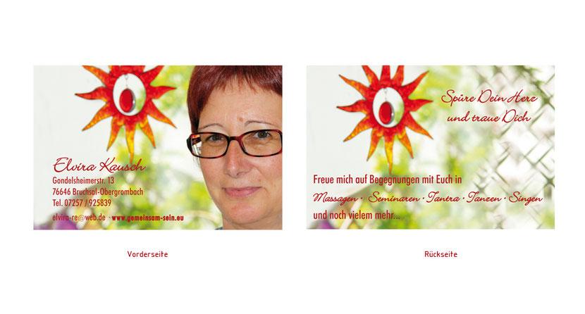 Visitenkarten-Gestaltung und Visitenkarten-Druck in Markt Schwaben für Masseure in Erding