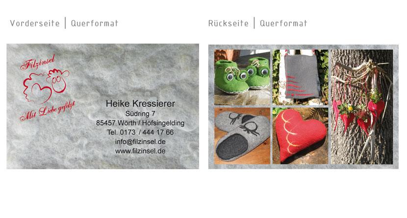 Visitenkarten-Gestaltung und Visitenkarten-Druck für Künstler in Markt Schwaben