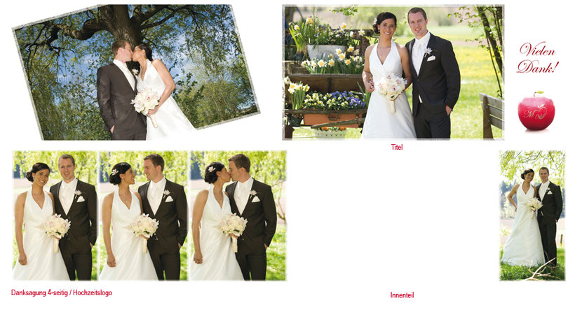 Hochzeitskartengestaltung und Hochzeitskartendruck für Brautpaare in Ebersberg