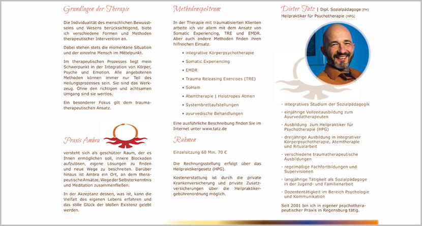 Faltblatt DINlang | 6 seitig | 2 Falz | Innenteil