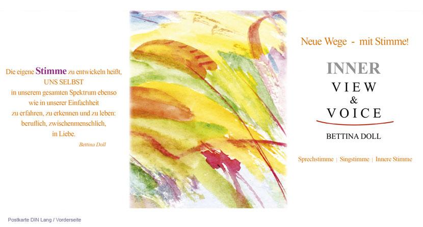 Postkartengestaltung und Postkartendruck für Therapeuten in Erding