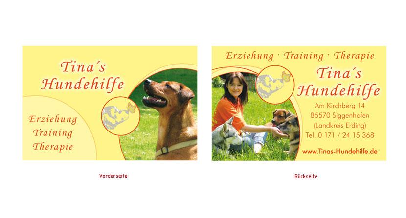 Visitenkarten-Gestaltung und Visitenkarten-Druck für Hundetrainer in Erding