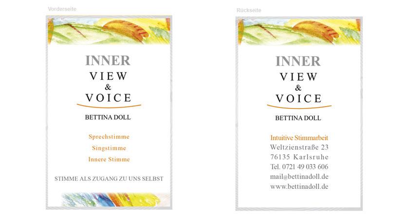 Visitenkarten-Gestaltung und Visitenkarten-Druck für Therapeuten in Erding