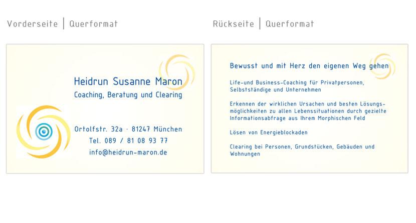 Visitenkarten-Gestaltung und Visitenkarten-Druck für Therapeuten in Ebersberg