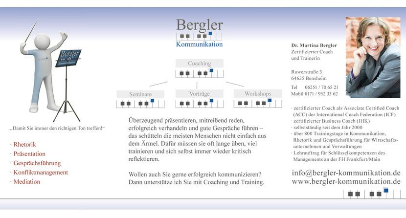 Kartengestaltung und Kartendruck für Trainer und Coacher in Ebersberg