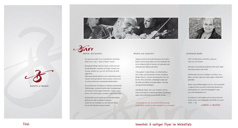 Flyergestaltung und Flyerentwicklung für Musiker in Landshut