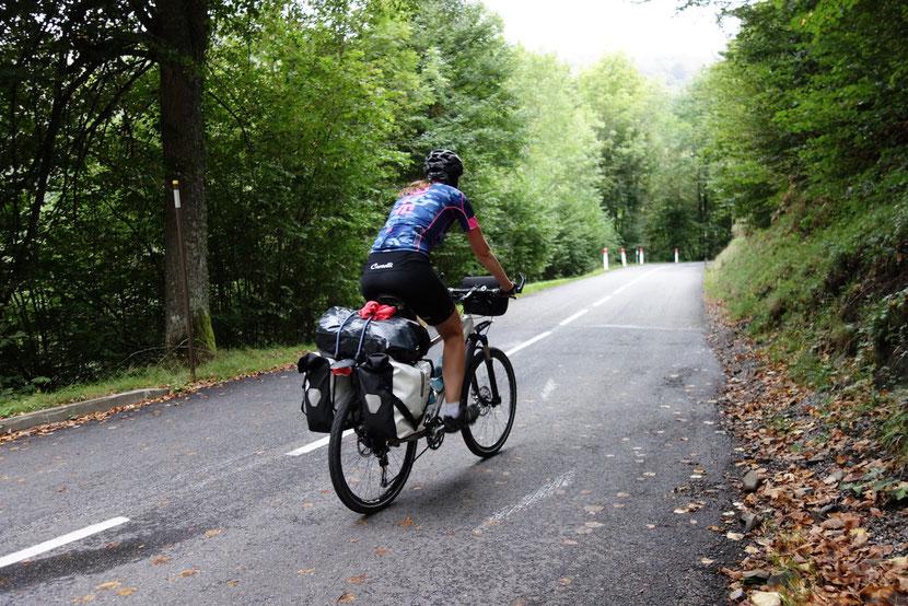Steigung, Radreise, Biketour, Übersetzung, Ritzelrechner, Alpenpass