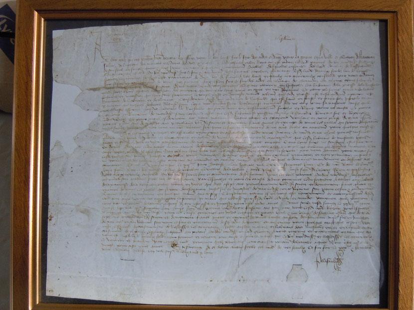 Charte royale de Louis XI de 1468