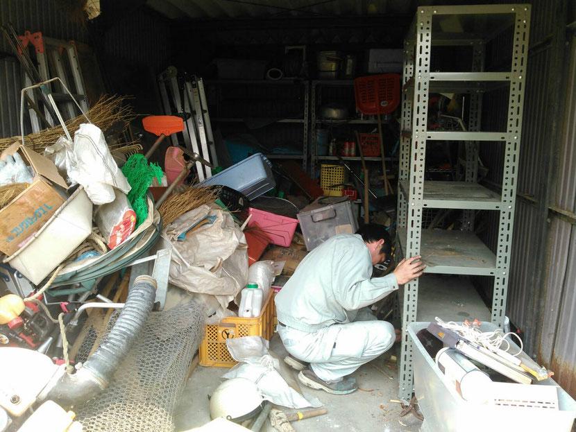 倉庫の掃除
