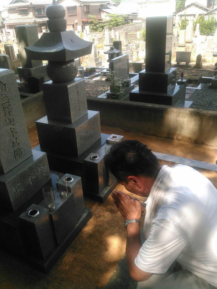 ご先祖様の墓掃除と代理お参り