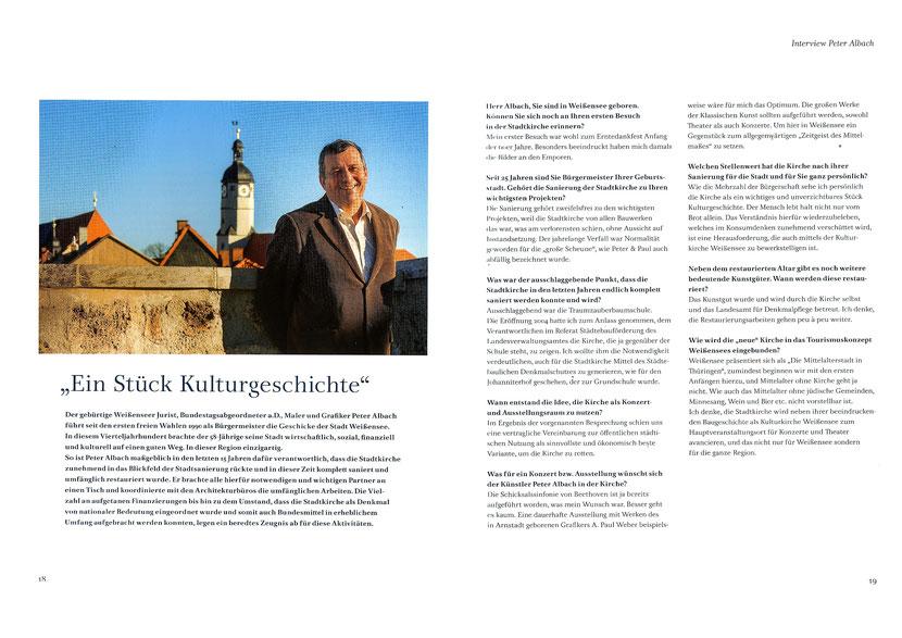 Interview-Peter Albach - Buch St.Peter und Paul zu Weißensee