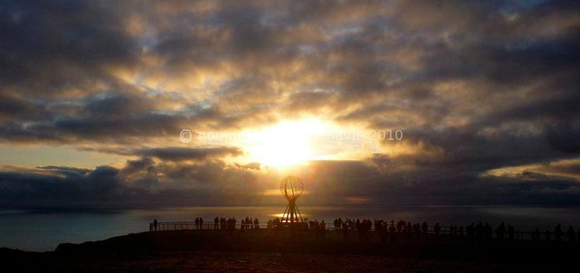 Soleil de minuit au Cap Nord