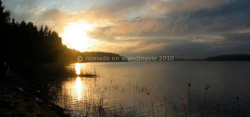 Coucher de soleil sur le lac d'Imatra