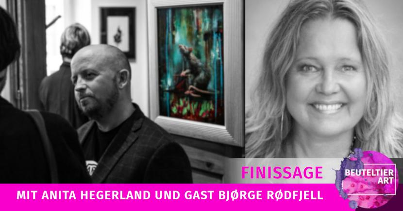 Finissage mit Anita Hegerland und Bjørge Rødfjell, Malerei aus Norwegen zu Gast in der Galerie in Leipzig