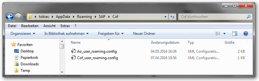 Appdata\Roaming\SAP\Cof